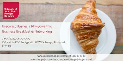 Brecwast Busnes a Rhwydweithio | Business Breakfast & Networking 28/01/2020