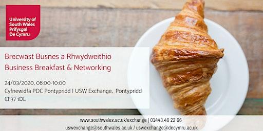 Brecwast Busnes a Rhwydweithio | Business Breakfast & Networking 24/03/2020