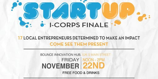 I-Corps Startup Businesses Finale Pitches