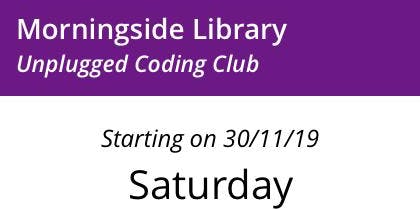 Morningside Library: Unplugged Code Club