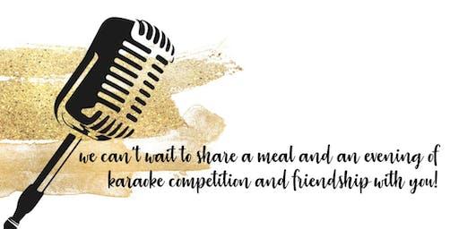 We Care-e-Okie  {a fun night of dinner & dueling karaoke!}