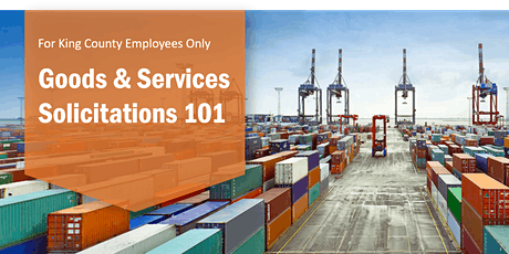 Goods and Services Solicitations 101 tickets