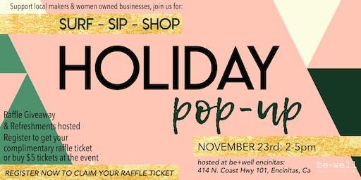 Surf - Sip - Shop Holiday Pop-Up