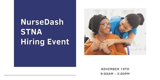 NurseDash STNA Hiring Event