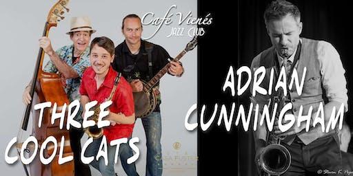 Música Jazz en directo: THREE COOL CATS + ADRIAN CUNNINGHAM
