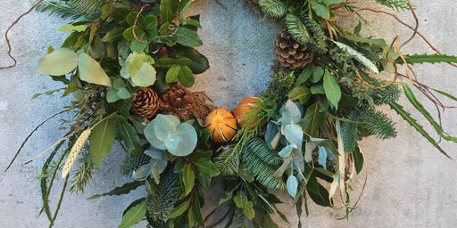 (SOLD OUT) Winter Wreath Making Workshop - Winter Foragers Hove