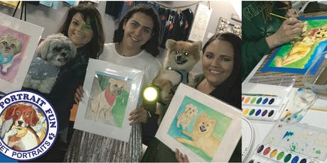 Paint and Sip Pet Portrait Fun-Yappy Hour NEW YORK-Dec 13 tickets