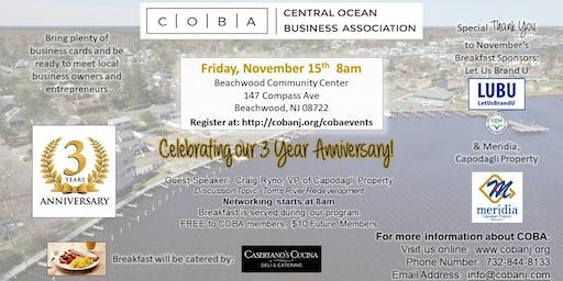 COBA Monthly Breakfast Networking Event