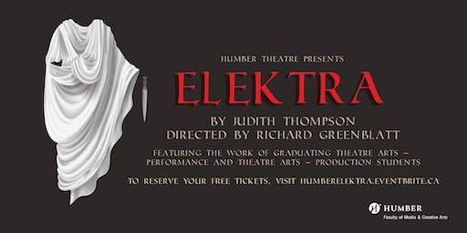 Humber Theatre Presents Elektra