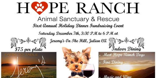 Hope Ranch Animal Sanctuary & Rescue Dinner Fundraising Event