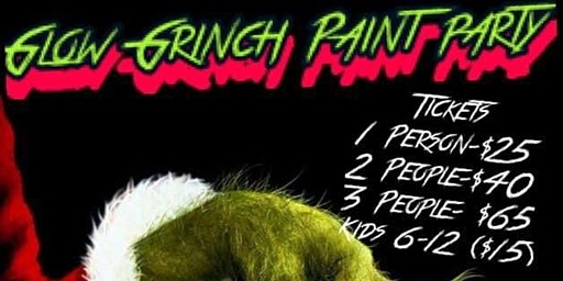 Glow Grinch Paint Party