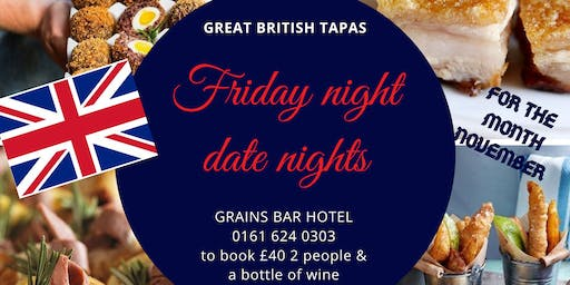 GREAT BRITISH TAPAS FOR 2 INCLUDING A BOTTLE OF WINE