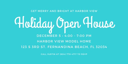 Artisan Homes' Holiday Open House Party at Harbor VIew