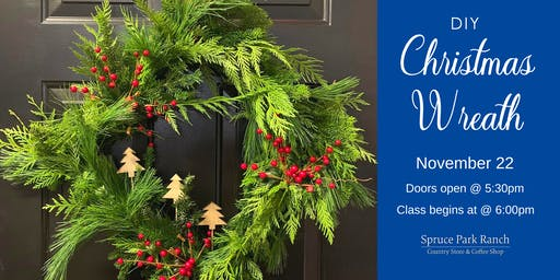 Christmas Evergreen Square Wreath Class
