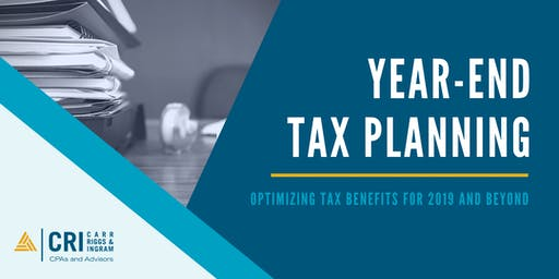 [SHREVEPORT, LA] Year-End Tax Planning