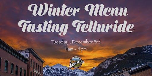 Winter Menu Tasting Telluride