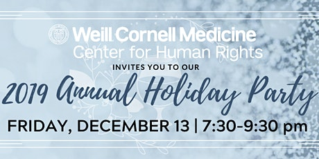 Weill Cornell Center for Human Rights Winter Holiday Party tickets