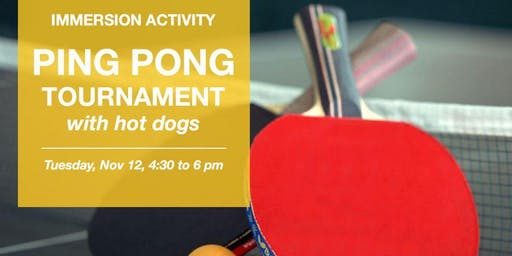 Ping Pong Tournament with Hot Dogs