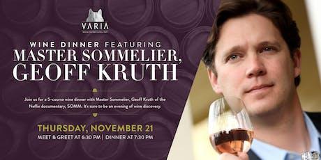Wine Dinner with Master Sommelier, Geoff Kruth tickets