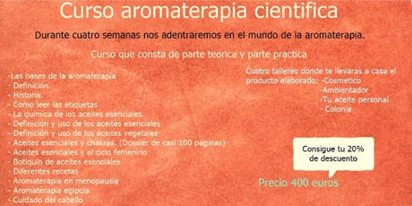 Curso Aromaterapia Cientifica. entradas