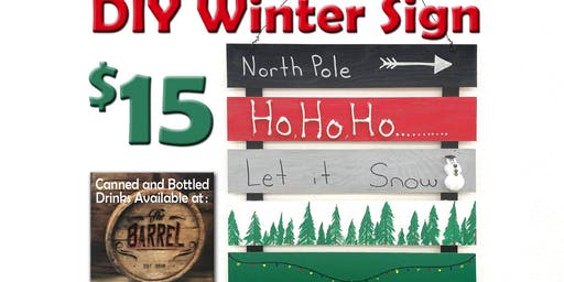 DIY Winter Sign 18+ 0nly