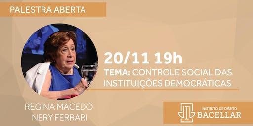 Palestra:  Controle social das instituições democráticas