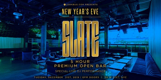 Slate New Years Eve 2020 Party