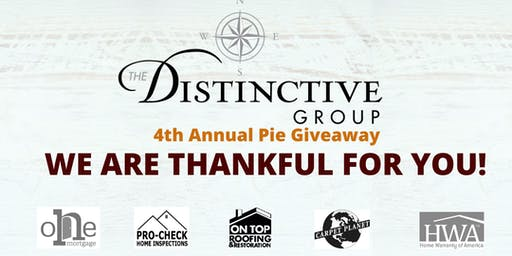 4th Annual Thanksgiving Pie Giveaway