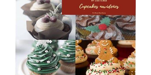 Cupcakes Navideños con la Chef Liza Ojeda en Anna Ruíz Store