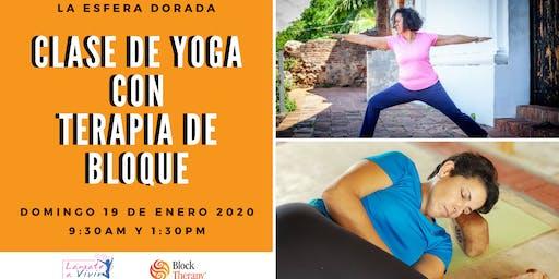 Clase de Yoga con Terapia de Bloque