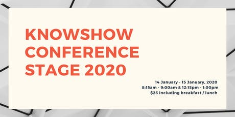 KNOWSHOW Conference Stage 2020 tickets