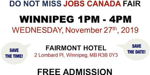 Winnipeg Job Fair – November 27th, 2019