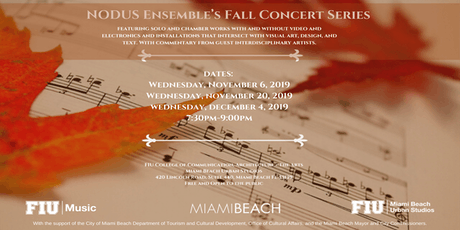 2019 NODUS Ensemble's Fall Concert Series tickets