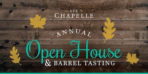 Ste Chapelle Open House & Barrel Tasting
