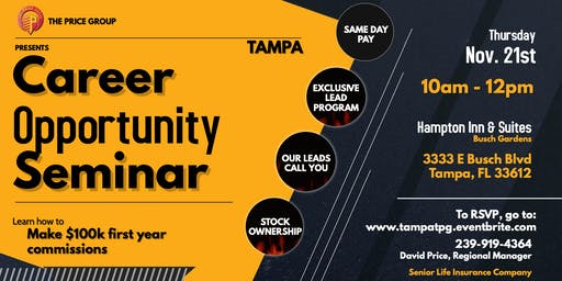 Career Opportunity Seminar - Tampa Nov 21st