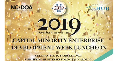 2019 Capital Minority Enterprise Development Week Luncheon