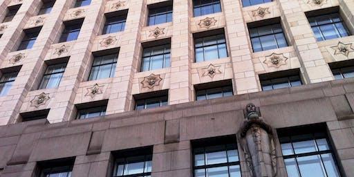 Art Deco in The City, alleys that we walk through