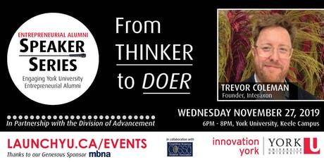 Entrepreneurial Alumni Speaker Series: Trevor Coleman tickets