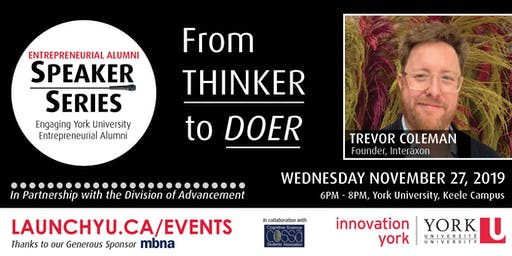 Entrepreneurial Alumni Speaker Series: Trevor Coleman