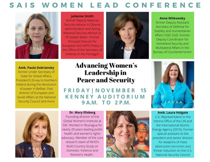 SAIS Women Lead Conference: Advancing Women's Leadership in Peace & Security @ Johns Hopkins University School of Advanced International Studies