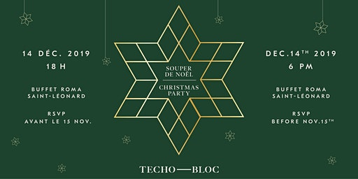 Souper de Noël Techo-Bloc 2019 Techo-Bloc Christmas Dinner