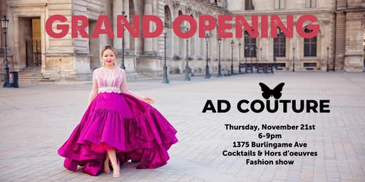 GRAND OPENING AD COUTURE with Fashion Show