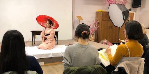 Kimono Life Drawing