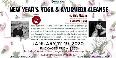 New Year's Yoga & Ayurveda Cleanse w Chip McLain & Samantha de Silva tickets