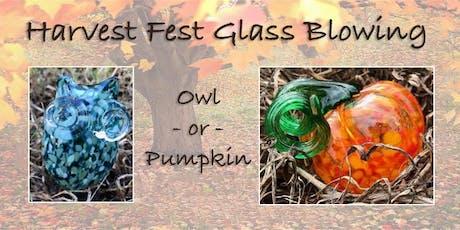 Fall Glass Blowing: Make a Glass Pumpkin or Glass Owl tickets