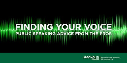 Finding Your Voice: Public Speaking Advice from the Pros