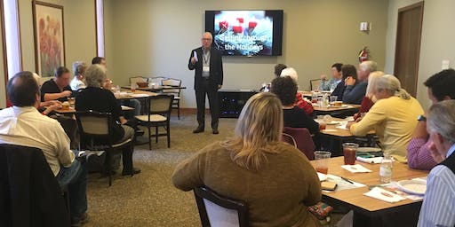 """Grief & the Holidays 2019 (Lunch): Session Two """"Planning for the Holidays"""""""