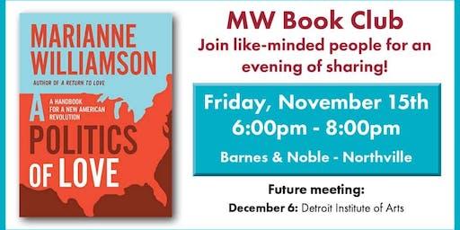 Marianne Williamson Book Club meeting