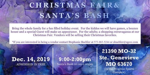 Ste. Genevieve County Community Center Christmas Fair & Santa's Bash