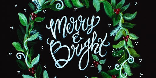 Merry and Bright-Acrylic Painting Class